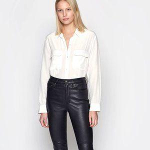 Equipment Slim Signature Silk Shirt Bright White